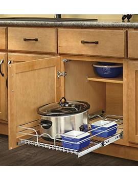 Rev A Shelf   5 Wb1 2122 Cr   21 In. W X 22 In. D Base Cabinet Pull Out Chrome Wire Basket by Rev A Shelf