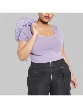 Women's Plus Size Washed Cropped Short Sleeve T Shirt   Wild Fable™ by Wild Fable™