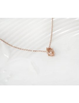 Bridesmaid Gift, Champagne Necklace, Rose Gold Necklace, Long Necklace,  Peach Necklace by Etsy