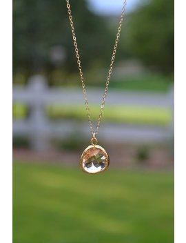 Peach Pendant Necklace by Etsy
