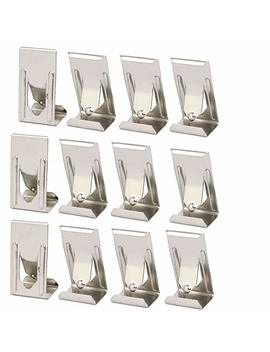 Uxcell 26mmx14mm Picture Photo Frame Metal Spring Turn Clip Hanger Siver Tone 12pcs by Uxcell