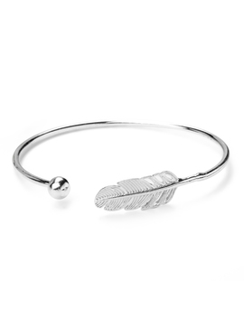 Women's Feather Bracelets & Bangles New Fashion Bracelet Silver Plated Jewelry by Unbranded
