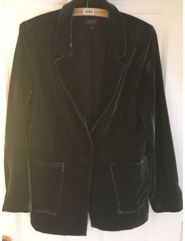 Topshop Blue Velvet Blazer Jacket by Ebay Seller