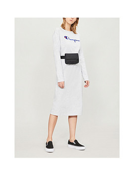 Logo Embroidered Cotton Blend Midi Dress by Champion
