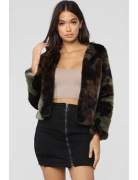 Camo Luxe Fur Jacket   Camo by Fashion Nova
