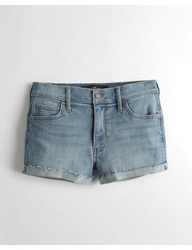 Advanced Stretch Mid Rise Denim Short Shorts by Hollister