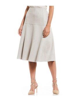 Faux Suede Eugene Midi Skirt by Antonio Melani