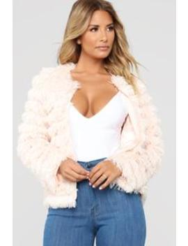 Tweety Fur Jacket   Blush by Fashion Nova
