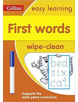 First Words Age 3 5 Wipe Clean Activity Book (Collins Easy Learning Preschool) by Amazon