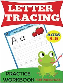 Letter Tracing Practice Workbook: For Preschool, Ages 3 5 (Preschool Workbooks) by Dylanna Press