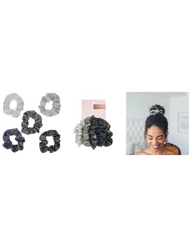 Metallic Scrunchies   Black/ Gray by Kitsch