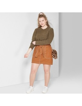 Women's Plus Size Belted Tie Utility Mini Skirt   Wild Fable™ by Wild Fable™