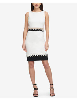 Stitched Grommet Scuba Dress, Created For Macy's by Dkny