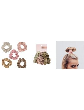 Metallic Scrunchies   Blush/ Mauve by Kitsch