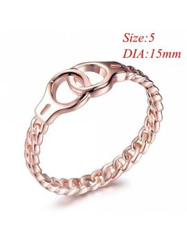 New Punk Vintage Cross Chain Handcuffs Ring Midi Jewelry by Unbranded