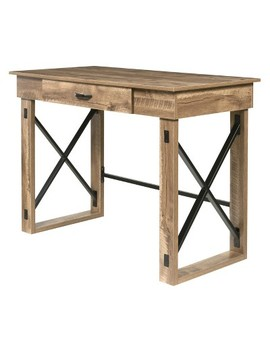 Martin Standing Desk With Drawer Oak   One Space by One Space