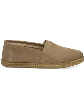 Toffee Suede Faux Shearling Men's Classics by Toms