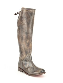 Manchester Tall Leather Block Heel Boots by Bed Stu