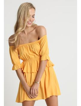 Debiflue X Na Kd Off Shoulder Frill Short Dress   Korte Jurk by Na Kd