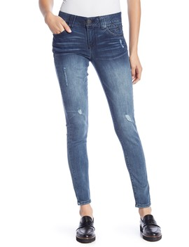 Ab Technology Distressed Skinny Jeans by Democracy