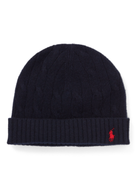 Cable Knit Wool Cashmere Hat by Ralph Lauren