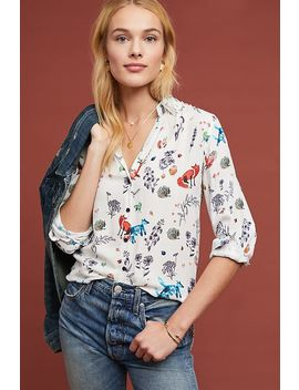 Gabby Printed Buttondown by Vilagallo