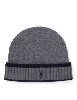 Striped Merino Wool Hat by Ralph Lauren