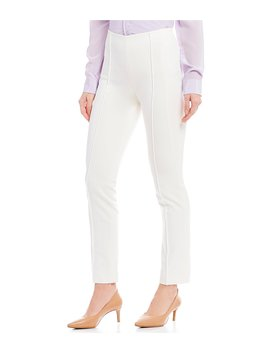 Buelle Twill High Rise Slim Leg Pant by Antonio Melani