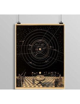 Vintage Astronomy Print, Star Chart, Zodiac, Constellations, Celestial Maps, Telescope, Planets, Astronomy Illustration by Etsy