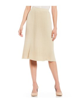 Eldora Pleated A Line Midi Skirt by Antonio Melani