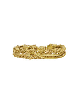 Gold Double Braided Bracelet by Emanuele Bicocchi