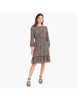 Cinched Waist Dress In Leopard Chiffon by J.Crew