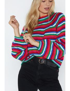 Color Me Happy Chunky Knit Sweater by Nasty Gal