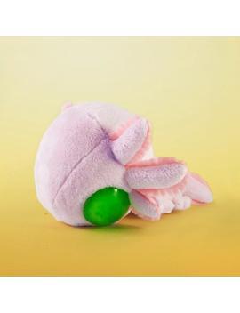 "Pinky The Axolotl, 5"" Organic Plush, Natural Plushie, Cute Soft Toy, Kawaii Stuffed Animal; Handmade W/Organic Cotton Fabric & Resin Eyes by Etsy"