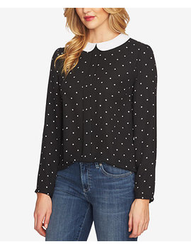 Polka Dot Peter Pan Collar Blouse by Ce Ce
