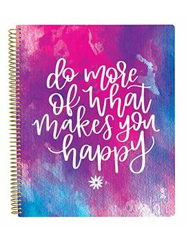 """Bloom Daily Planners All In One Ultimate Monthly & Weekly Planner, Notebook, Sketch Book, Grid Pages, Coloring Book And More! 9"""" X 11"""" Do More Of What Makes You Happy by Bloom Daily Planners"""