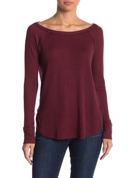 Ribbed Long Sleeve Thermal Sweater by Lucky Brand