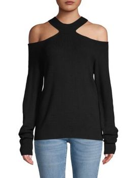 Long Sleeve Cold Shoulder Sweater by Renvy