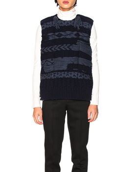 Knitted Body Warmer by Calvin Klein 205 W39 Nyc