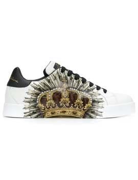 Sneakers Mit Kronen Print by Dolce & Gabbana