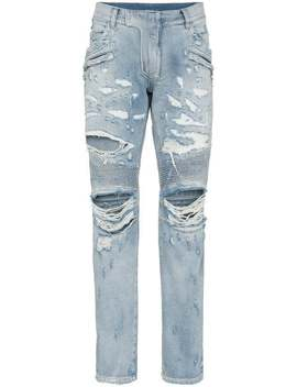 Biker Jeans Im Distressed Look by Balmain