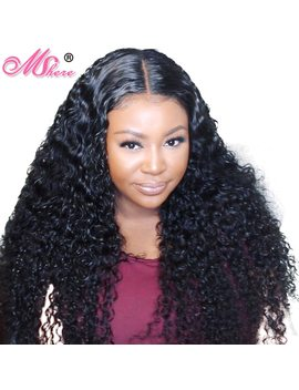 13x4 Lace Front Human Hair Wig Deep Curly Hair Lace Front Wig For Women Pre Plucked Peruvian Remy Hair Mshere 150 Percents Free Shipping by Mshere