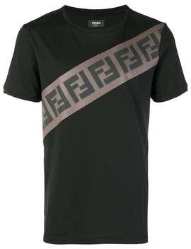 T Shirt Mit Logo Print by Fendi