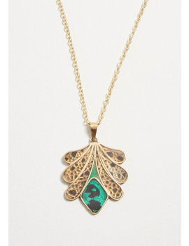 Adorned In Deco Pendant Necklace by Modcloth