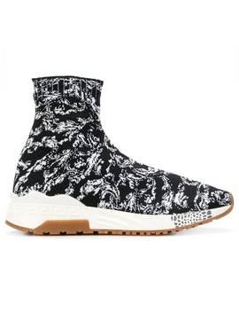 Sock Sneakers Mit Barock Print by Versace