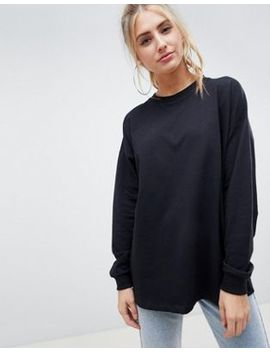 Asos Design Oversized Slouchy Lightweight Sweat In Black by Asos Design