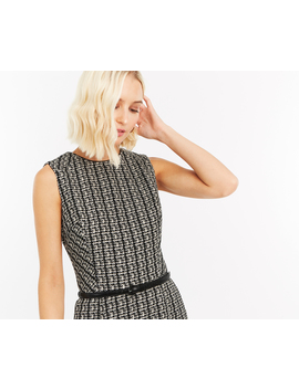Belted Monochrome Shift Dress by Oasis