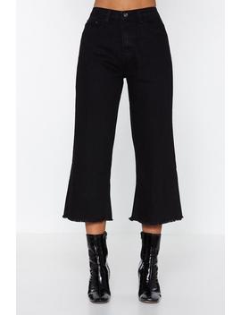 Short Stop Wide Leg Jeans by Nasty Gal