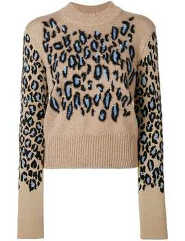 Leopard Print Knit Sweater by Kenzo