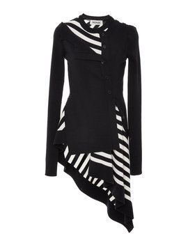 Asymmetric Twisted Striped Wool Top by Monse